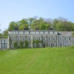 Waddow Hall front view with lawn